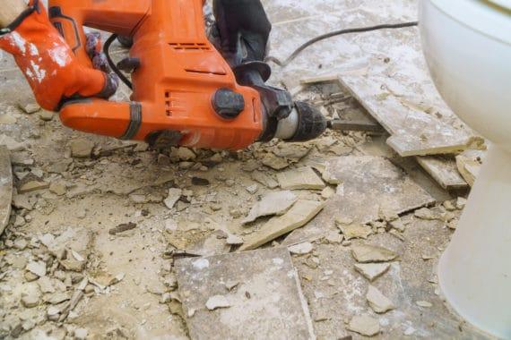 demolition du par terre