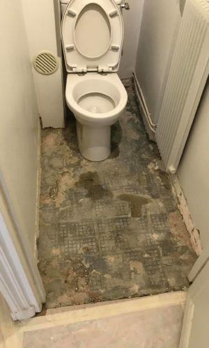 travaux toilettes, wc