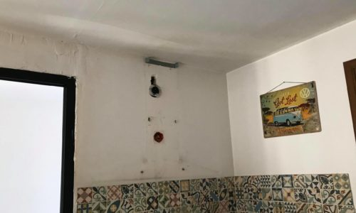 réparation mur cuisine
