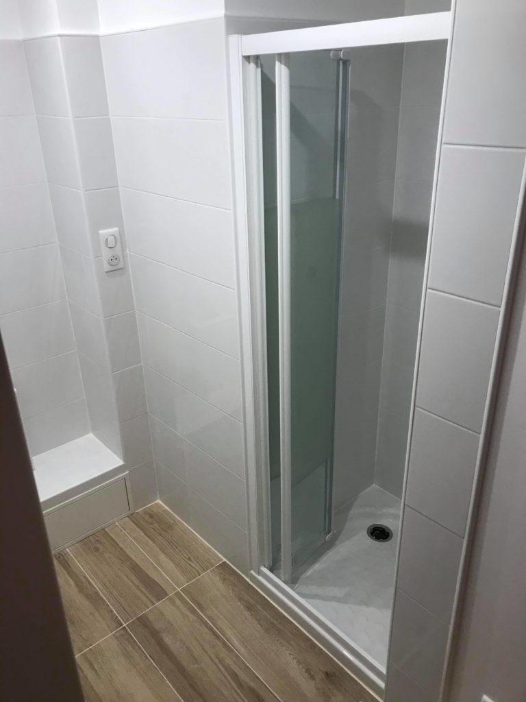 construction de douche